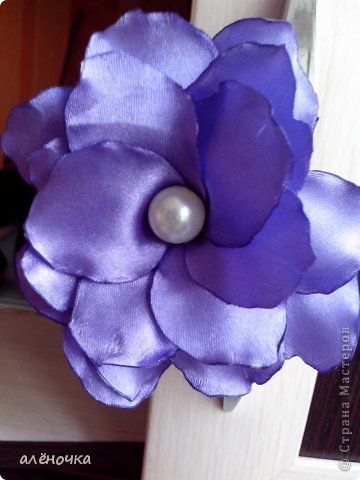 это мои первые цветочки из ткани.обязательно буду ещё тренироваться фото 4