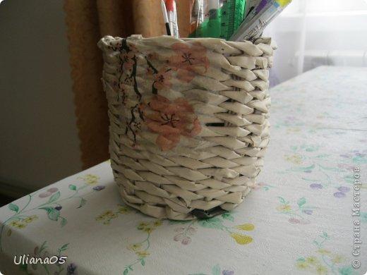 Плетенка для карандашей  фото 1