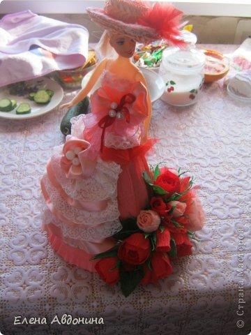 Куклу делала первый раз и для пробы взяла барби подешевле.......она оказалась лысая))))))))ужас))))))что продают детям..... фото 5