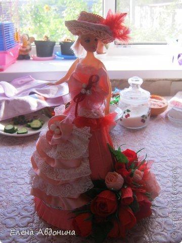 Куклу делала первый раз и для пробы взяла барби подешевле.......она оказалась лысая))))))))ужас))))))что продают детям..... фото 6