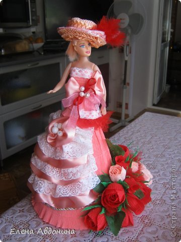 Куклу делала первый раз и для пробы взяла барби подешевле.......она оказалась лысая))))))))ужас))))))что продают детям..... фото 1
