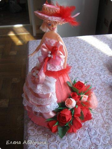 Куклу делала первый раз и для пробы взяла барби подешевле.......она оказалась лысая))))))))ужас))))))что продают детям..... фото 3