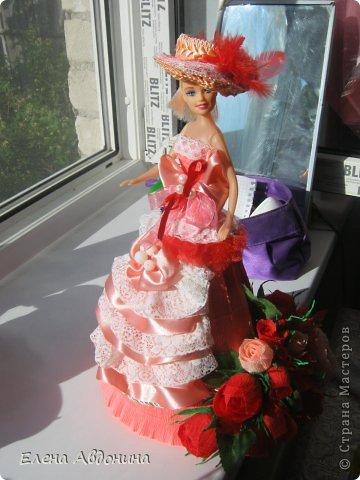 Куклу делала первый раз и для пробы взяла барби подешевле.......она оказалась лысая))))))))ужас))))))что продают детям..... фото 9