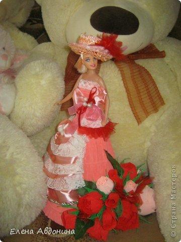 Куклу делала первый раз и для пробы взяла барби подешевле.......она оказалась лысая))))))))ужас))))))что продают детям..... фото 11