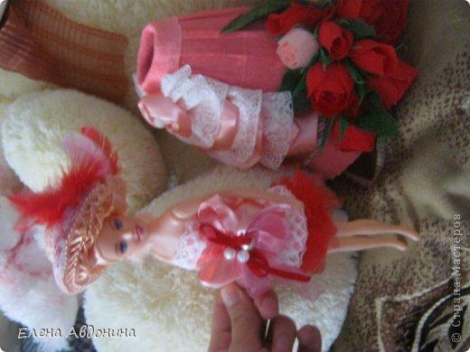 Куклу делала первый раз и для пробы взяла барби подешевле.......она оказалась лысая))))))))ужас))))))что продают детям..... фото 13