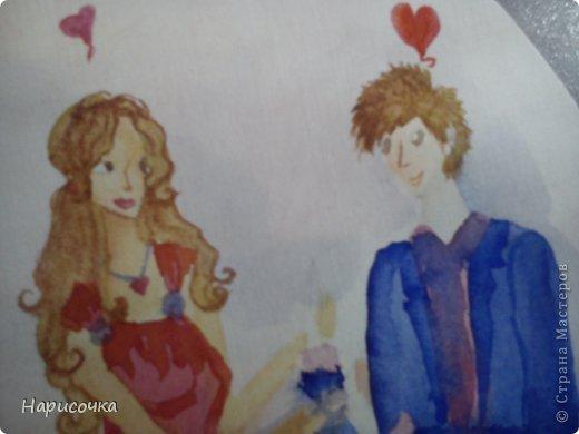 Привет всем ещё раз!Спейчас я хочу вам показать как можносделать такую открытку.Смотря какой рисунок её можно подарить на 8 марта, Валентинов День, можно на День поцелуев(который скоро будет), можно на День Матери, на День Рождения и т.п. фото 25