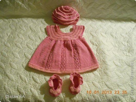 Платье для девочки 3-6 мес. Подарок для дочурки подруги фото 2
