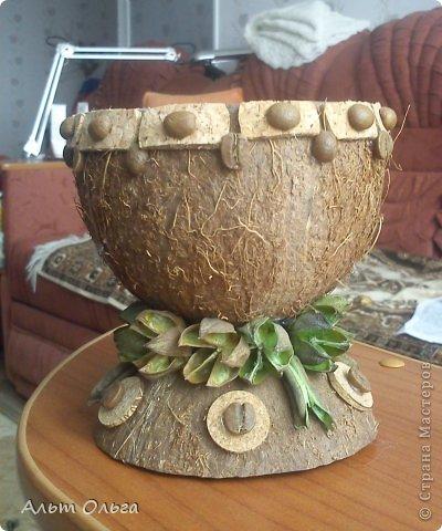Ваза из кокоса фото 1