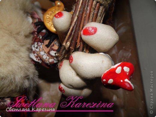 Ягуля - фитотерапЭвт........четырехлистник нашла на удачу......а верная подруга Каркуша золотую подковку на счастье (Каркуша выполнена в стиле чердачной игрушки.......) фото 3