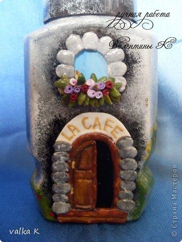 Ну вот получилось как то так. Подарок подруге на день рождения,любительницы кофе Идею сделать кафе на баночке с кофе взяла у ЛюдмилаДем  https://stranamasterov.ru/node/373578?c=favorite Подставка сделана из гипса  фото 9
