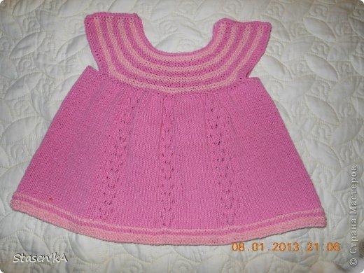 Платье для девочки 3-6 мес. Подарок для дочурки подруги