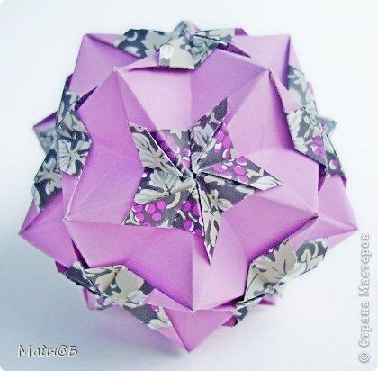 Name: Ruby Flower Designer: Natalia Romanenko Units: 30 Paper: 3.75х5.63 cm Final height: ~ 8 cm Туториал: http://kusudama.info/2012/09/ruby-flower-tutorial/