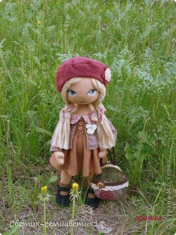 Знакомтесь:) Аришка. куколка сшита из натуральных материалов. Сшита с душой и для вас!