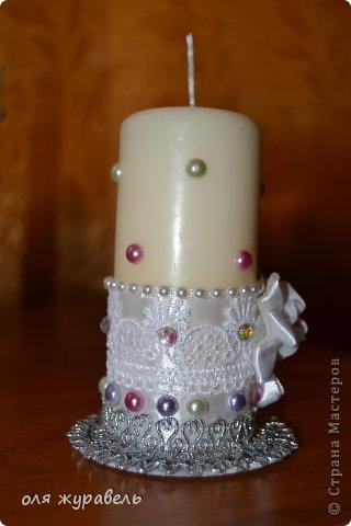 привет вам, спасибо, что зашли.... Подскажите пожалуйста, что можно добавить в эти свечи??? Работа первая, уж и не знаю, понравятся ли невесте???? фото 3