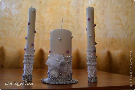 привет вам, спасибо, что зашли.... Подскажите пожалуйста, что можно добавить в эти свечи??? Работа первая, уж и не знаю, понравятся ли невесте???? фото 2