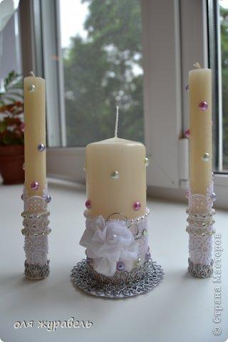 привет вам, спасибо, что зашли.... Подскажите пожалуйста, что можно добавить в эти свечи??? Работа первая, уж и не знаю, понравятся ли невесте???? фото 4