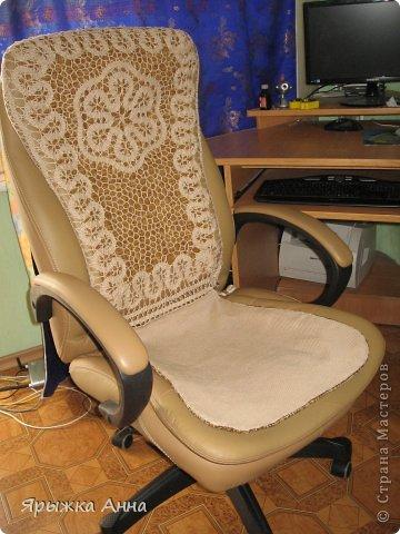 Интерьер Вязание крючком Пледы и накидки на кресло Пряжа фото 3