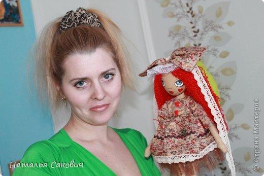 Девочки, зимой я активно шила куколок, хочу вам показать их. Это еще не вся их часть. Ростиком куколки 41 см, сшиты из бязи и тонированны кофем. Роспись лица акриловыми красками и пастель. Волосы у некоторых овечья шерсть, которую я сама мыла и красила , а у других искуственные волосы.   фото 39