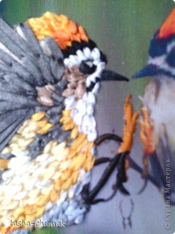 Рождение этой красавицы, доставило мне стооооолько хлопот.... Сначала в городе начались перебои с поставками ... Ленты купить стало очень сложно.... Сомневалась в целесообразности вышивки птички-отражения... Крыло перешивала пять(!) раз.... фото 4