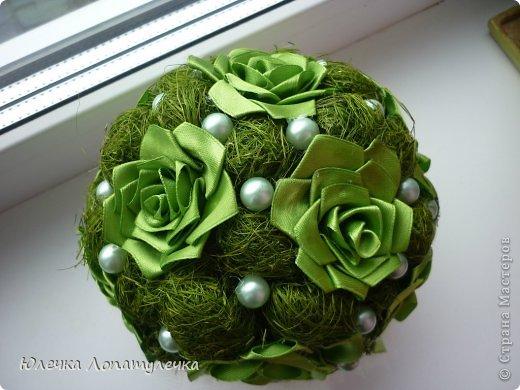 Сизаль и атласные цветы фото 3