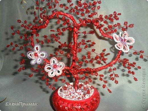 У подруги скоро свадьба ,нужен был подарок. Увидела деревце из бисера у  Аленки29 (https://stranamasterov.ru/node/172917?c=favorite),решила сделать что-то похожее! Спасибо Аленке за идею! фото 1