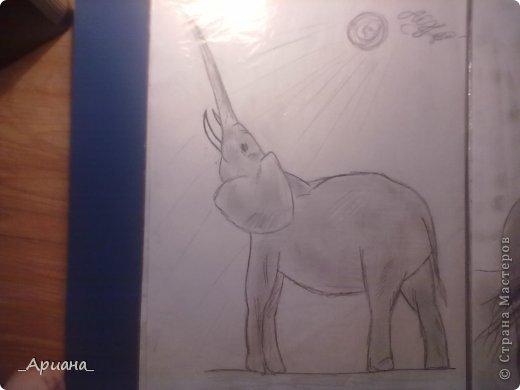 лошадь... раскрашенная восковыми мелками фото 12