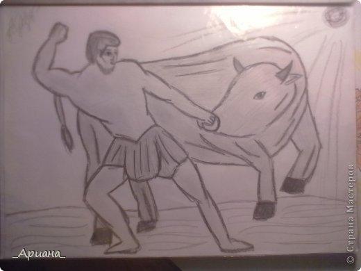 лошадь... раскрашенная восковыми мелками фото 5