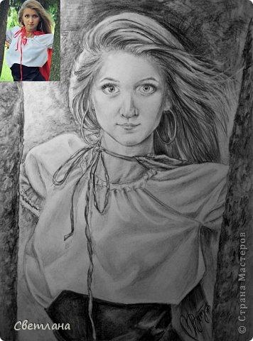 Портреты по фото карандашом  фото 1