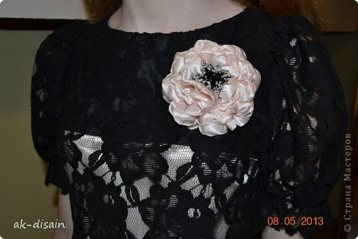 еще одно платице. цветочек делала сама. фото 2