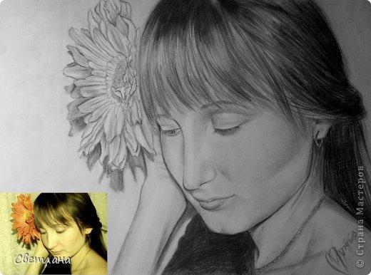 Портреты по фото карандашом  фото 2