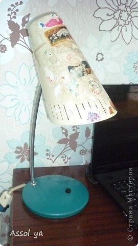Всем привет))) Решила чуток преобразить лампу-старушку. фото 2