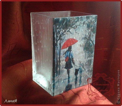 """Ваза """"Я люблю погулять под дождем..."""" фото 2"""
