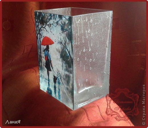 """Ваза """"Я люблю погулять под дождем..."""" фото 3"""