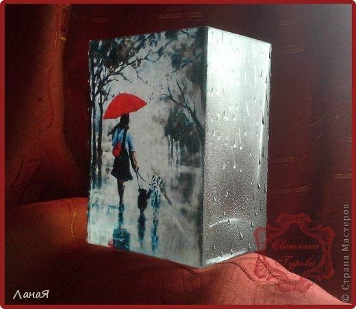 """Ваза """"Я люблю погулять под дождем..."""" фото 4"""