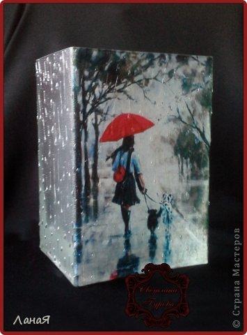 """Ваза """"Я люблю погулять под дождем..."""" фото 1"""