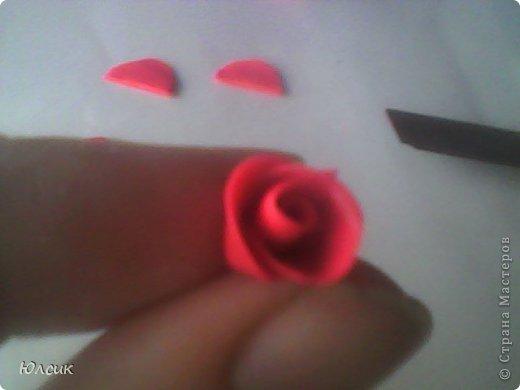 Хочу показать МК по созданию небольшой розочки из полимерной глины! фото 9