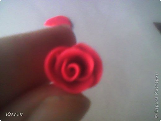 Хочу показать МК по созданию небольшой розочки из полимерной глины! фото 10