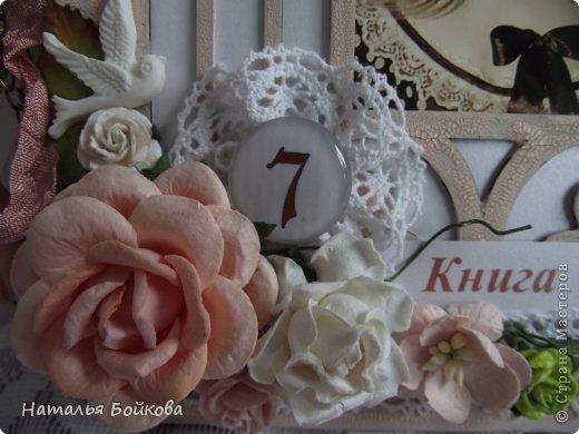 Поделка изделие Скрапбукинг День рождения Ассамбляж Книга пожеланий рамка из бобины и девичьи радости Бумага фото 8