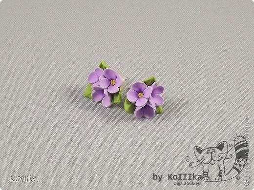 Цветы из полимерной глины в украшениях фото 4