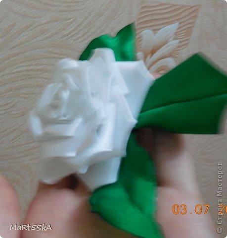 роза канзаши фото 2