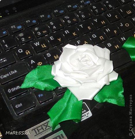 роза канзаши фото 3