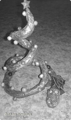 Всем привет!Вот такую поделку мы со старшим сыном делали на Новый год. Увидели работы Светланы Каночкиной -https://stranamasterov.ru/node/4777099  и влюбились. фото 3
