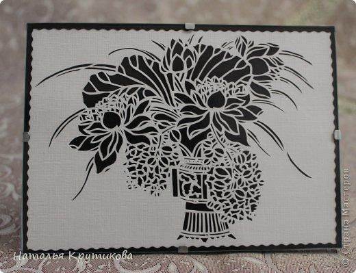 Картина панно рисунок Поделка изделие Вырезание Навырезала Бумага фото 1.