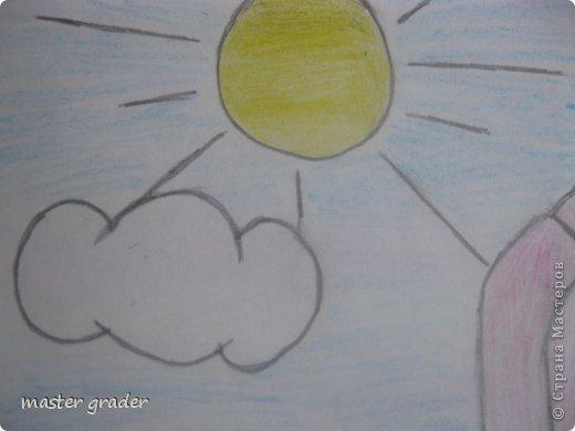 Вот и мой тюльпан.Рисовала обычными цветными карандашами. фото 3