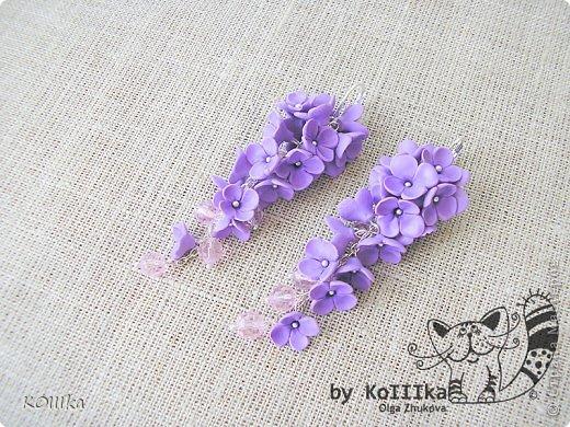 Цветы из полимерной глины в украшениях фото 7