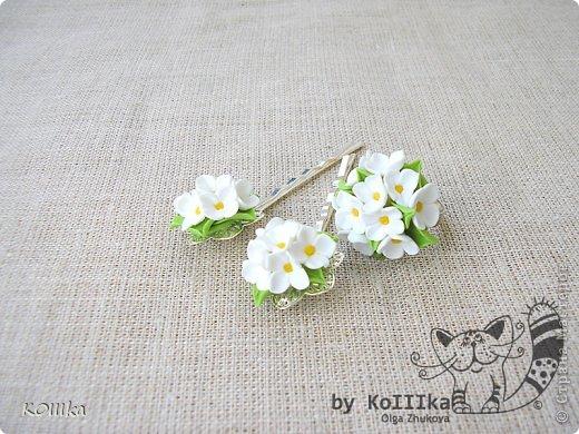 Цветы из полимерной глины в украшениях фото 5
