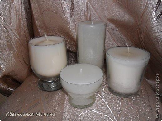 Мастер-класс Свадьба Мини МК свечей в стекле Свечи Стаканы фото 9