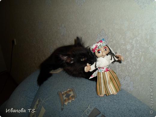 Обожаю черных кошек! Пожалуйста, знакомьтесь! Это размытое черное пятно с глазами - кошка Васса. фото 4