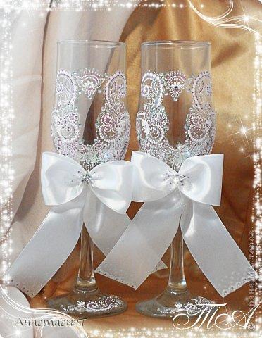 Мои новые свадебные бокалы. Продолжаю тему востока. =))) фото 5