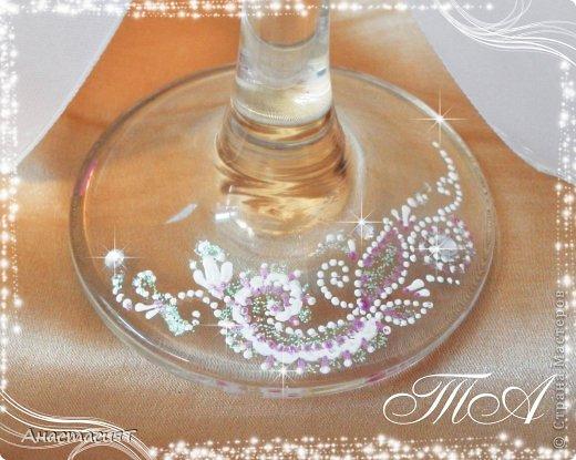Мои новые свадебные бокалы. Продолжаю тему востока. =))) фото 4